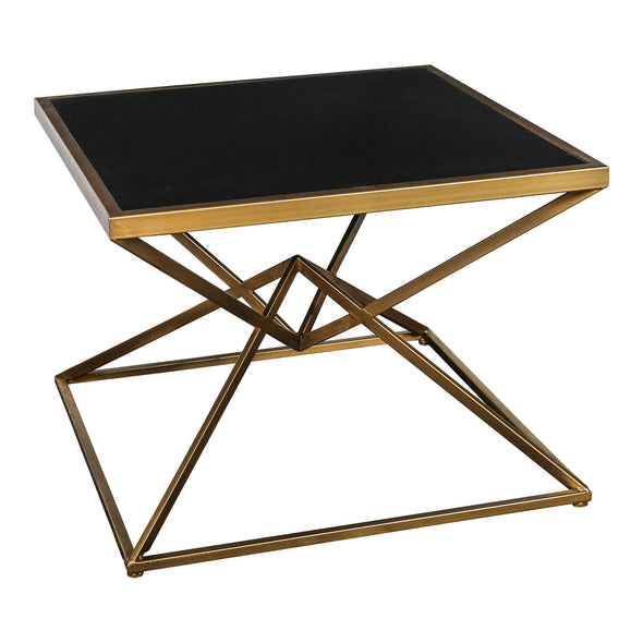 Miyo Dark Glass Gold Coffeetable