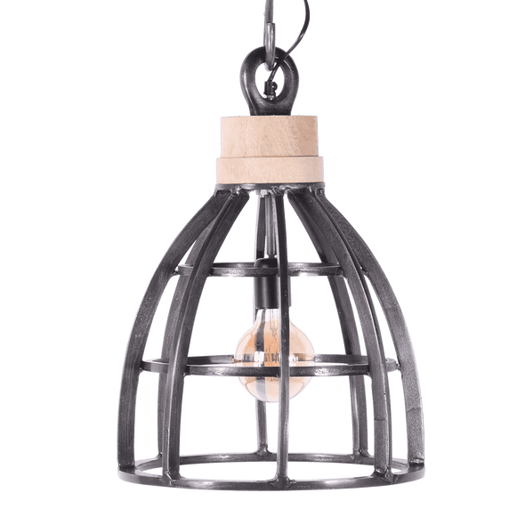 Hanglamp Larino Faded grey + wood