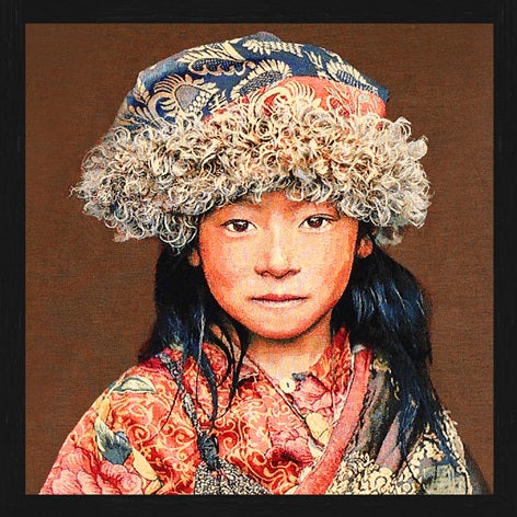Gobelin Tibetan Child Paneel Taupe