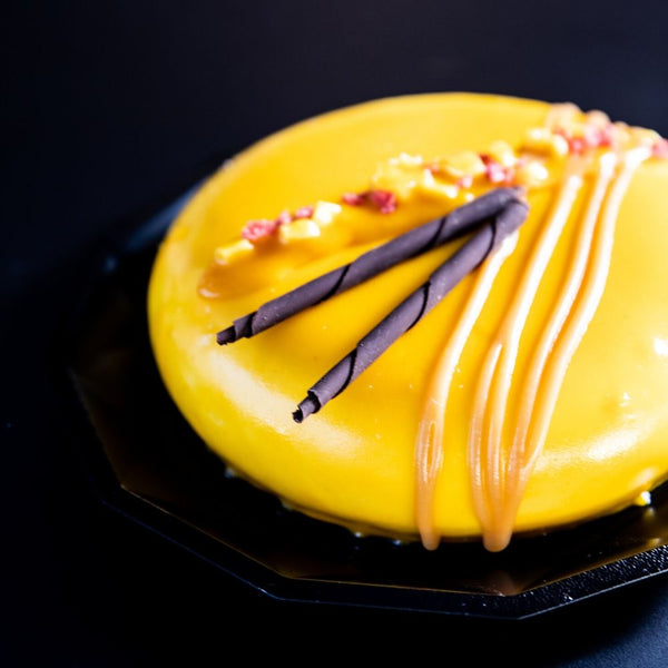 Vegan Coconut, Passionfruit and Mango Ice Cream Cake