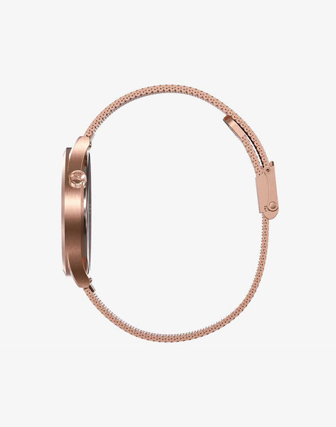 Reloj ROSE GOLD BLACK vista lateral