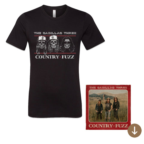 COUNTRY FUZZ T-SHIRT + DIGITAL ALBUM