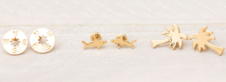 Mini Gold Earrings