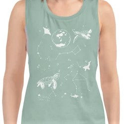 Buy this Eco-friendly Artistic Ocean Tank Top- It's good for the Earth and good for you!