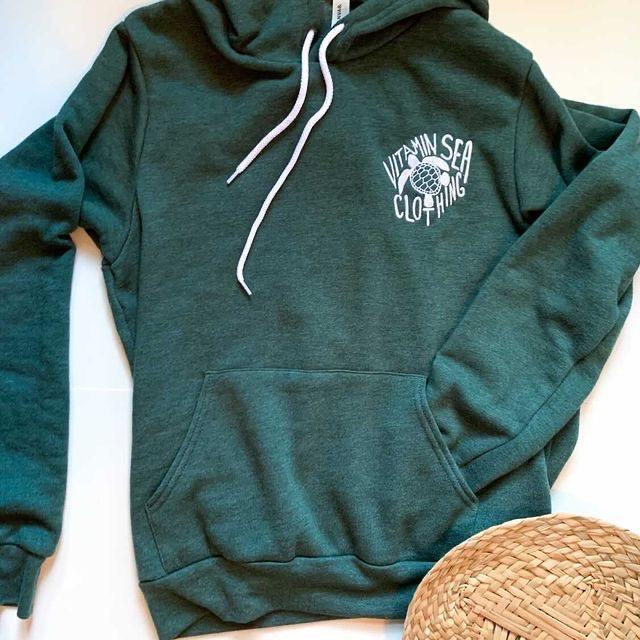 Sea Turtle Embroidered Hoodie
