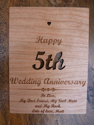 Personalised Wooden Greeting Cards