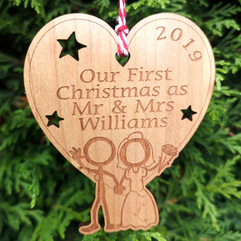 First Christmas ornaments and deorations