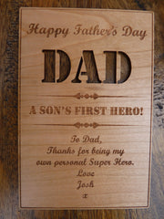 Wooden Father's Day card designs