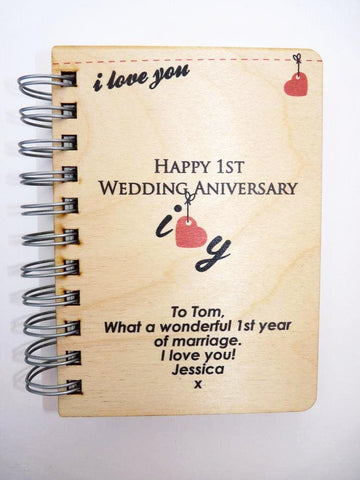 1st anniversary notebook