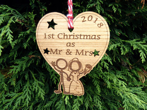 Wholesale 1st Christmas as Mr & Mrs Decorations