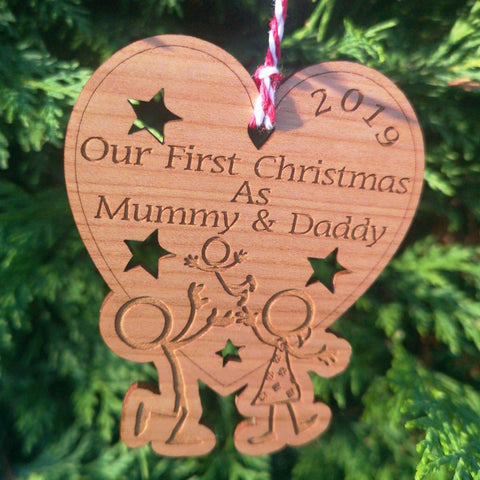 Our First Christmas as Mummy & Daddy Decoration