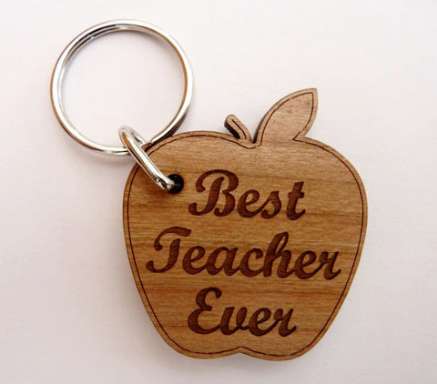 """Best Teacher Ever"" Keyring"
