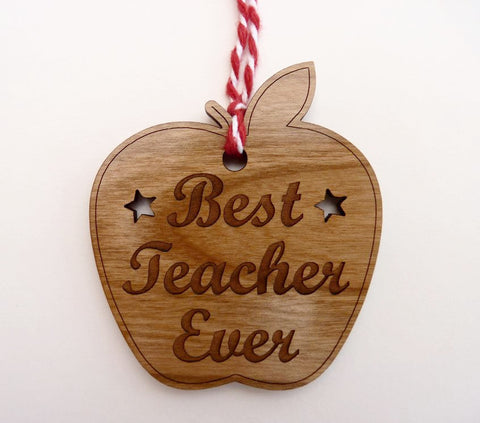 """Best Teacher Ever"" Apple Shaped Decoration"