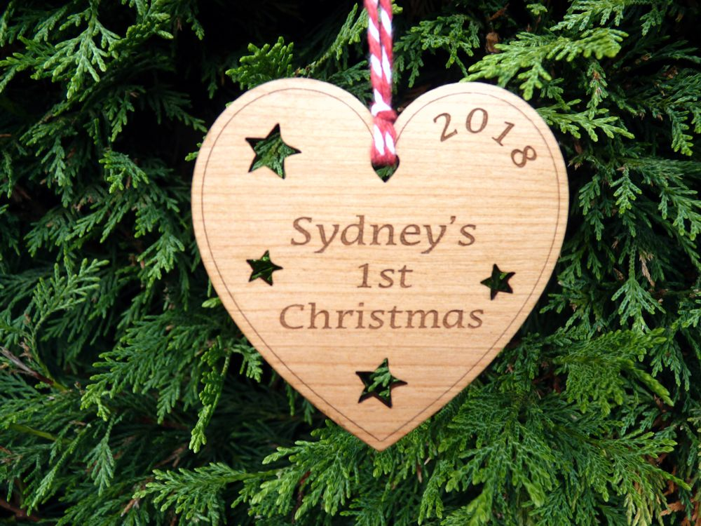 Personalised Baby S First Christmas Tree Decoration Personalised