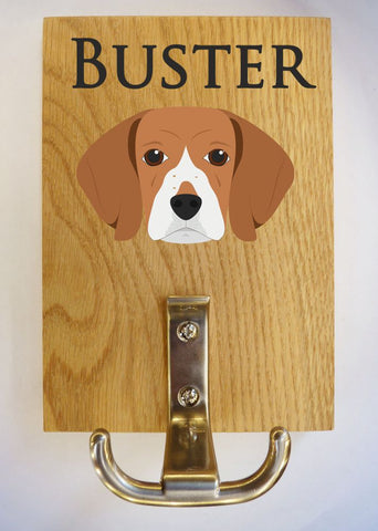 Beagle dog lead hanger