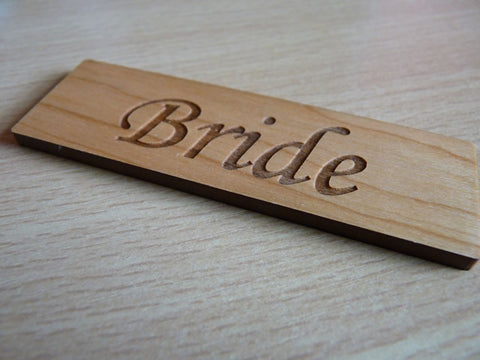 Wooden Table Name place settings
