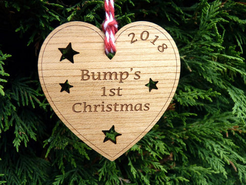 Bump's First Christmas Decoration