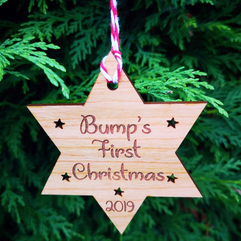Bump's First Christmas bauble