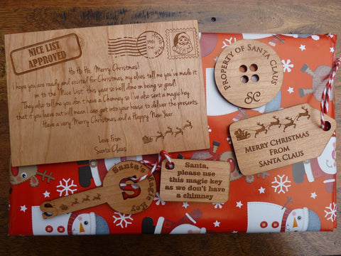 Christmas Eve Pack (Santa's Magic Key, Santa's Button, Gift tag & Special note)