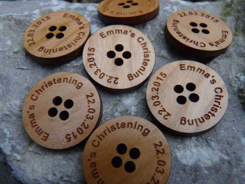 Personalised Wooden Buttons