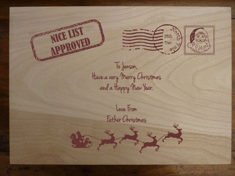 Large Personalised Wooden Christmas Box