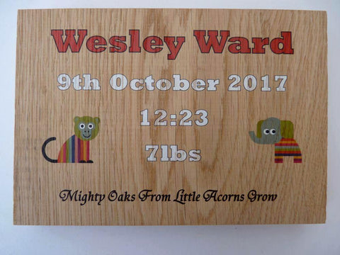 Personalised baby block keepsake