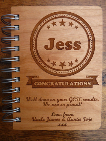 "Personalised ""Congratulations"" A6 Journal"