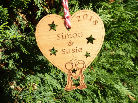 Couple's first Christmas decoration