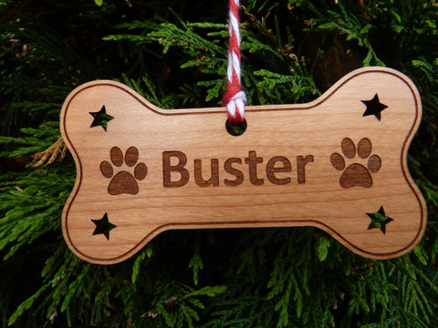 Personalised Dog Bone Christmas Bauble