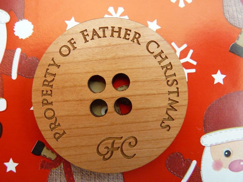 10 x Father Christmas / Santa Claus Lost Buttons | Wholesale