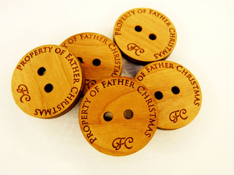 Father Christmas Buttons Wholesale