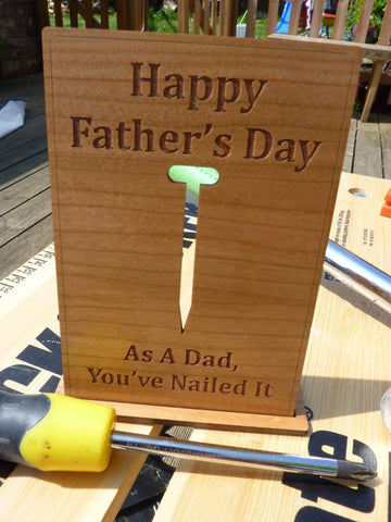 "Father's Day ""Nail"" Wooden Card"