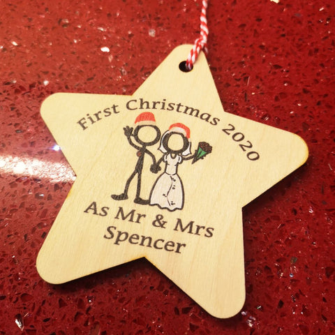 First Christmas as Mr & Mrs Decoration