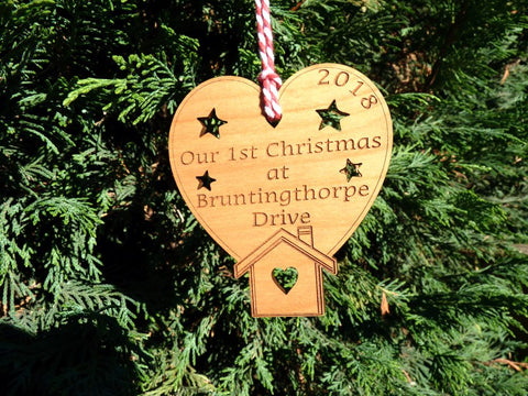 Personalised Our First Christmas In New Home Decoration