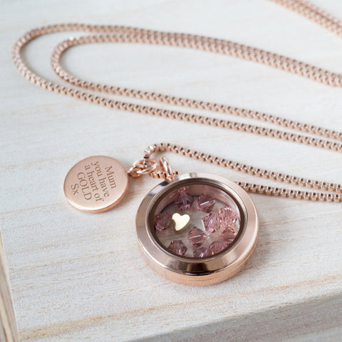 "Personalised ""Heart of Gold"" Necklace"