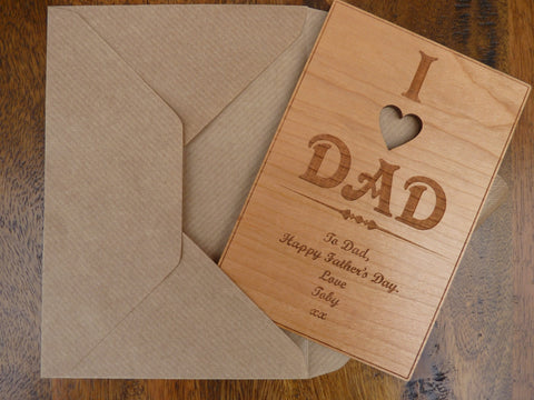 Wooden Father's Day Card – Personalised Gifts