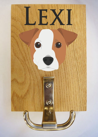 Jack Russel Dog leash hanger