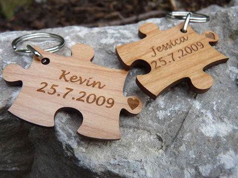 Pair of Jigsaw keyrings