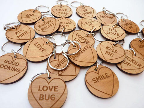 Love Heart Keyring wedding favours
