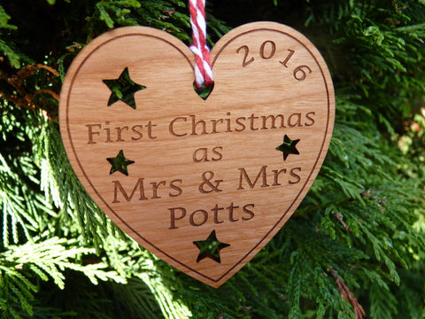 Mrs & Mrs First Christmas decoration