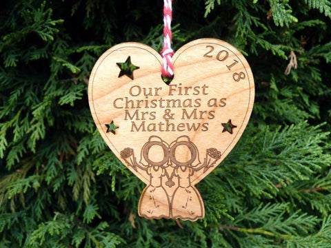 Our First Christmas as Mrs & Mrs Decoration