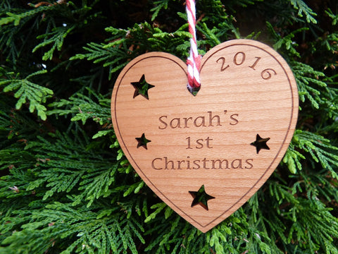 "Personalised Baby's ""First Christmas"" Tree Decoration"