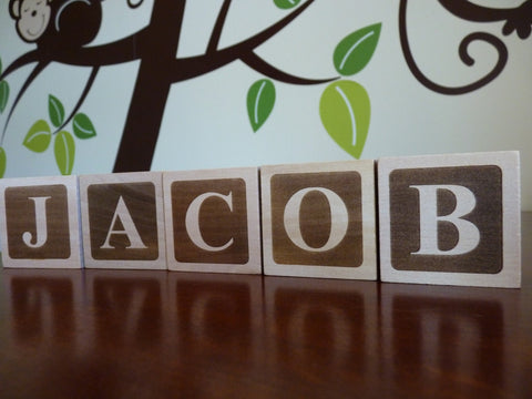 Wooden Baby Name Blocks