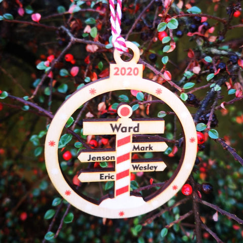 North Pole Personalised Family decoration