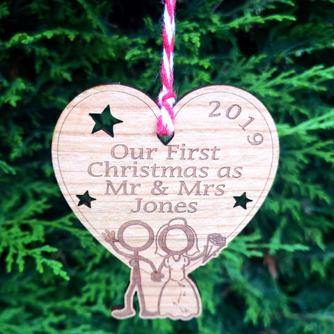 2019 First Christmas married Decoration