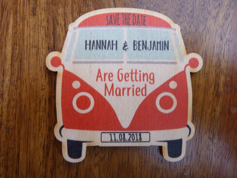 Campervan Save The Date Fridge Magnets