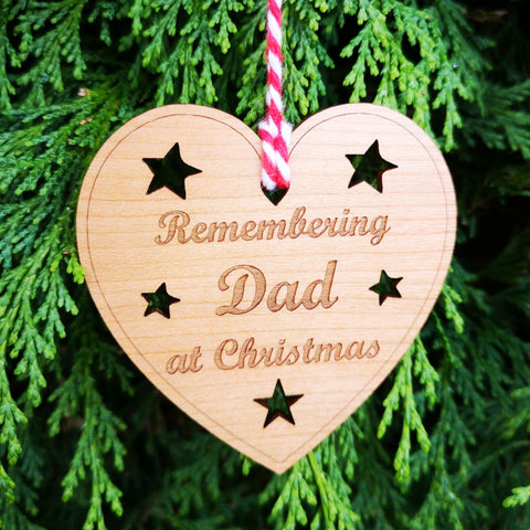 Remembering Dad at Christmas Bauble