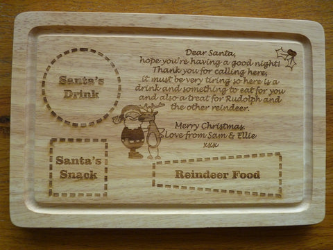 Personalised Santa's / Father Christmas snack board