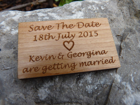 """Save The Date"" Wooden fridge magnets"