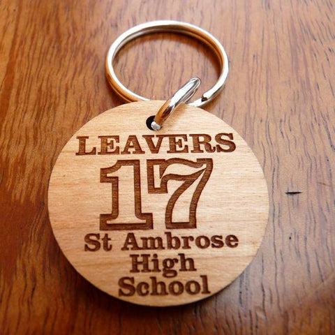 Engraved Wooden promotional keyrings